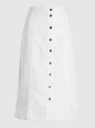 M.i.h Jeans - Panton High-Waisted Denim Midi Skirt