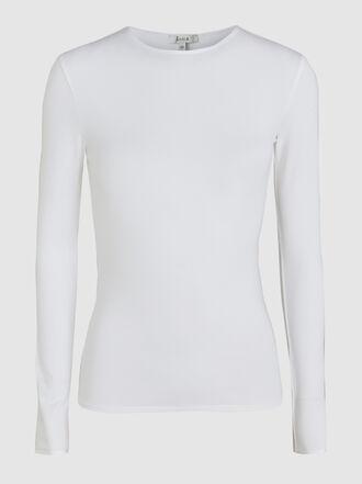 LAYEUR - Soft Jersey Long Sleeve Crew Neck Top