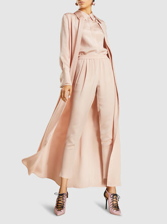 LAYEUR - Cropped Silk Jogger Trousers