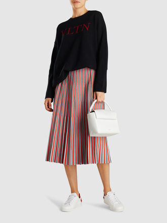 Valentino - Oversized Logo Cashmere Wool-Blend Jumper