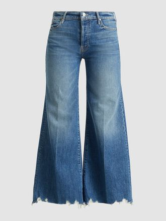 MOTHER - The Stunner Frayed Wide-Leg Jeans