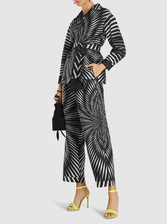 Alberta Ferretti - Printed Silk Wide-Leg Trousers