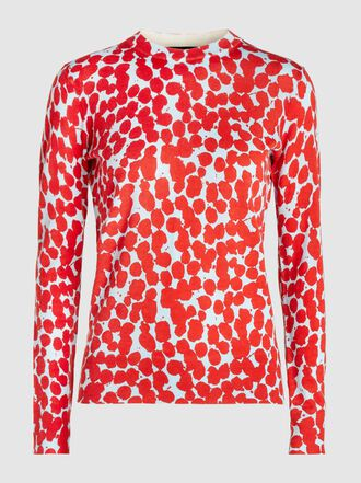 Proenza Schouler - Dot Print Crew Neck Merino Wool Sweater