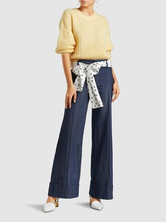 Maggie Marilyn - Always Here For You Belted Silk Jeans