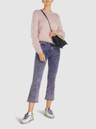 M.i.h Jeans - Marty Acid Wash Cropped Flared Jeans
