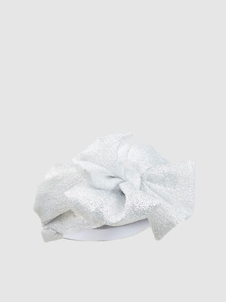 DONIA ALLEGUE - Rita Knotted Lurex Turban
