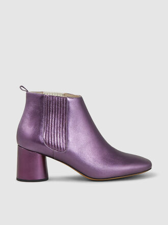 Marc Jacobs - Rocket Metallic Leather Chelsea Boots