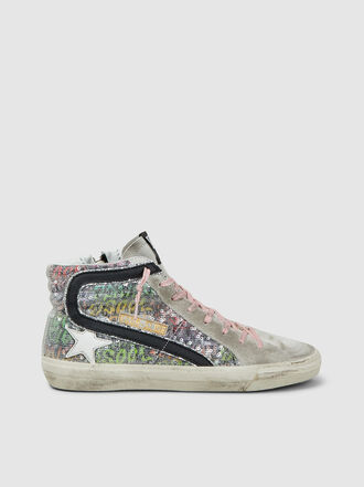 Golden Goose Deluxe Brand - Lurex High-Top Slide Sneakers