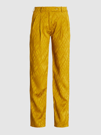 LAYEUR - Leigh Menswear-Inspired Straight Leg Viscose-Blend Pants