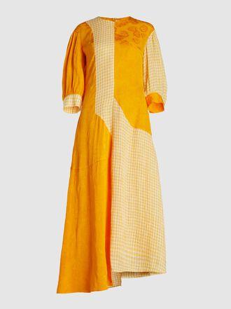 Rejina Pyo - Dylan Dress Linen and Jacquard Midi Dress