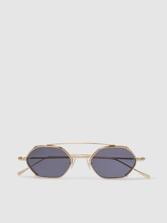 Illesteva - Lola Hexagonal Metal Frame Sunglasses