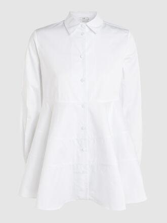 Co - Flared Peplum Cotton Shirt