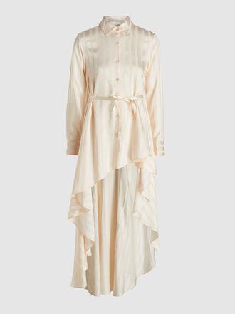 Palmer//Harding - Longline Striped Satin Shirt