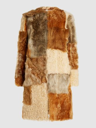 Burberry - Helston Patchwork Shearling Coat