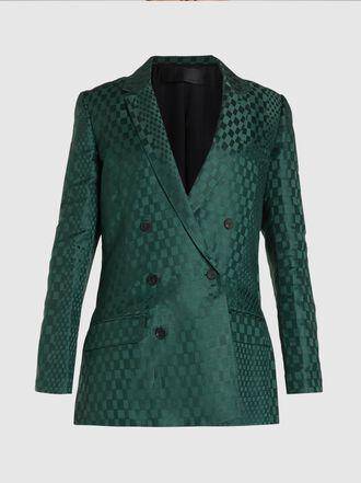 Haider Ackermann - Linen and Silk Double Breasted Linen-Silk Blend Blazer