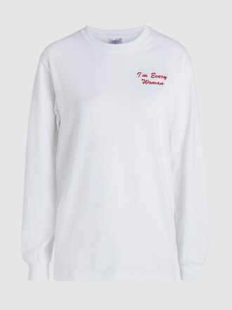 Double Trouble Gang - I'm Every Woman Long Sleeve Cotton T-Shirt