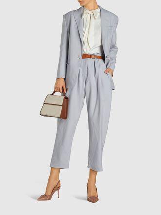 MAGDA BUTRYM - Farah Long Sleeve Linen-Blend Blazer