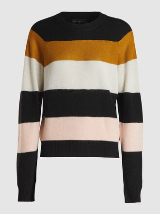 Stine Goya - Magdalena Striped Crewneck Knit Sweater