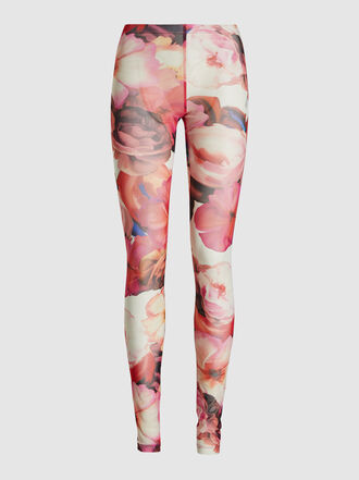 MSGM - Floral Printed Mesh Leggings