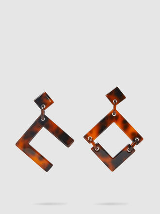Cult Gaia - Tai Asymmetric Acrylic Earrings