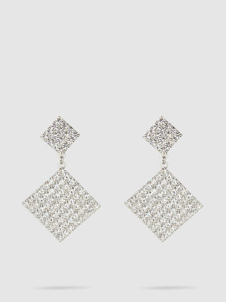 Alessandra Rich - Crystal-Embellished Silver-Tone Earrings