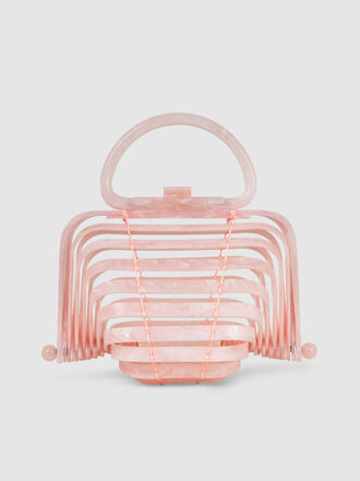 Cult Gaia - Lilleth Pink Acrylic Top Handle Bag