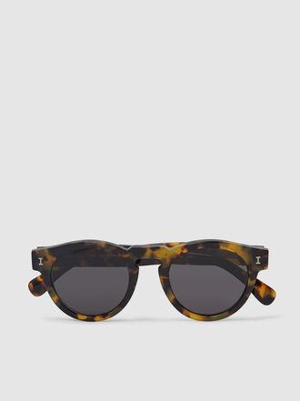 Illesteva - Leonard Tortoiseshell Round Sunglasses