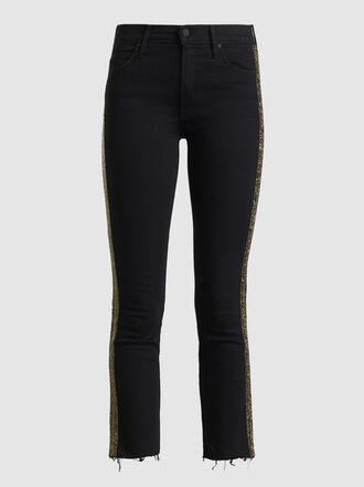 MOTHER - The Rascal Embellished Cropped Jeans