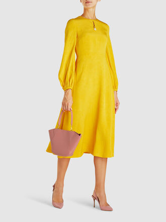 Escada - Dehla Bishop-Sleeve Crepe Midi Dress