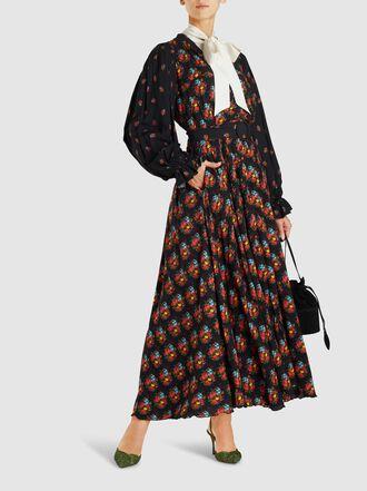 Gül Hürgel - Floral-Print Georgette Maxi Dress