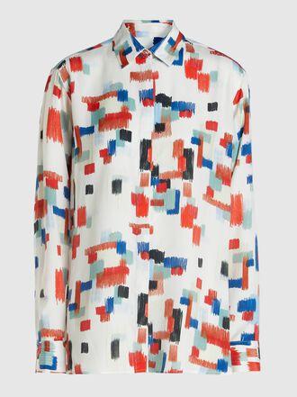 Rosetta Getty - Scribble-Print Crepe Shirt