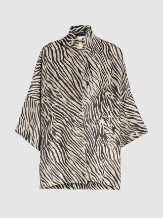 LAYEUR - Opera Oversized Zebra Print Jacquard Cape