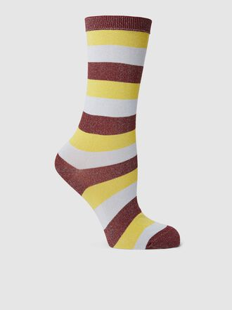 Ganni - Striped Lurex Socks