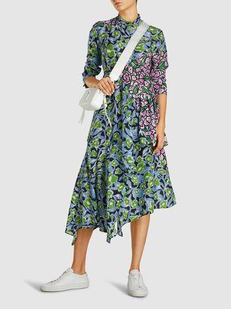 Christian Wijnants - Floral Print Silk Midi Dress