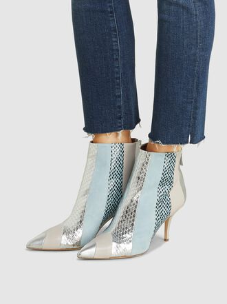 Malone Souliers - Amal Elaphe-Trimmed Leather Ankle Boots