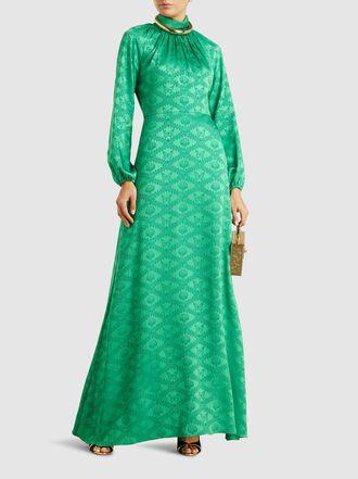 Mary Katrantzou - Belle Satin-Jacquard Maxi Dress