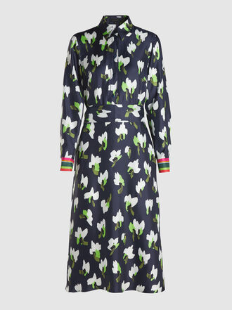Escada - Dhivas Floral-Print Silk Midi Dress