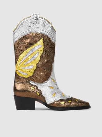 Ganni - Marlyn Leather Cowboy Boots