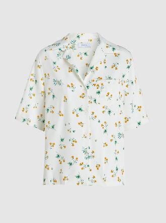 Racil - Tony Floral-Print Crepe Shirt