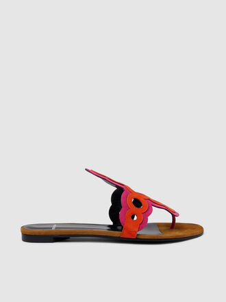 Pierre Hardy - Two-Tone Contrast Disc Flat Sandals