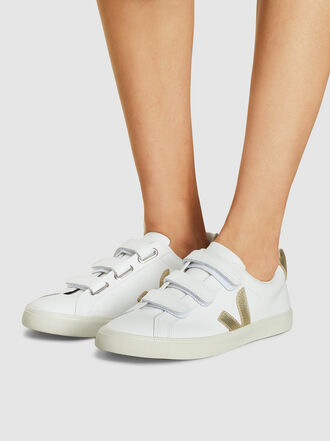 VEJA - 3-Lock White Leather Sneakers