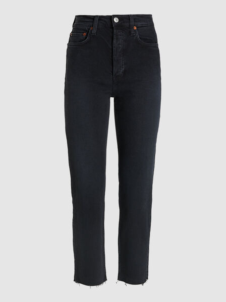 RE/DONE - Stove Pipe High-Rise Straight Leg Denim Jeans