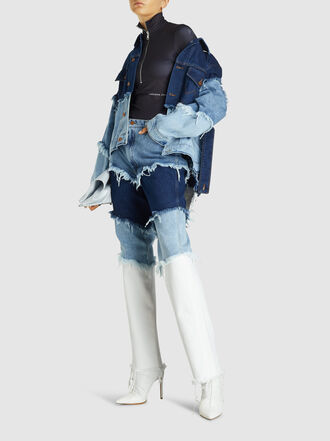 Natasha Zinko - Redone Multi-Layered Oversized Denim Jacket