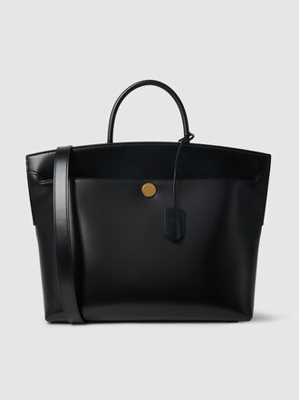 Burberry - Society Top-Handle Leather Tote