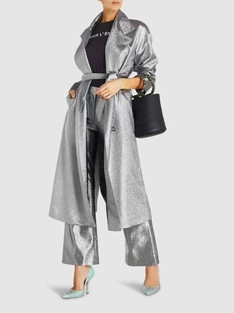 LAYEUR - Leigh Lamé Trench Coat