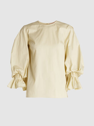 Roksanda - Seya Balloon Sleeve Cotton Top