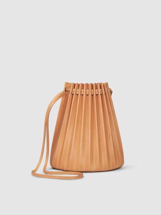 Mansur Gavriel - Vegetable Tanned Pleated Italian Leather Bucket Bag