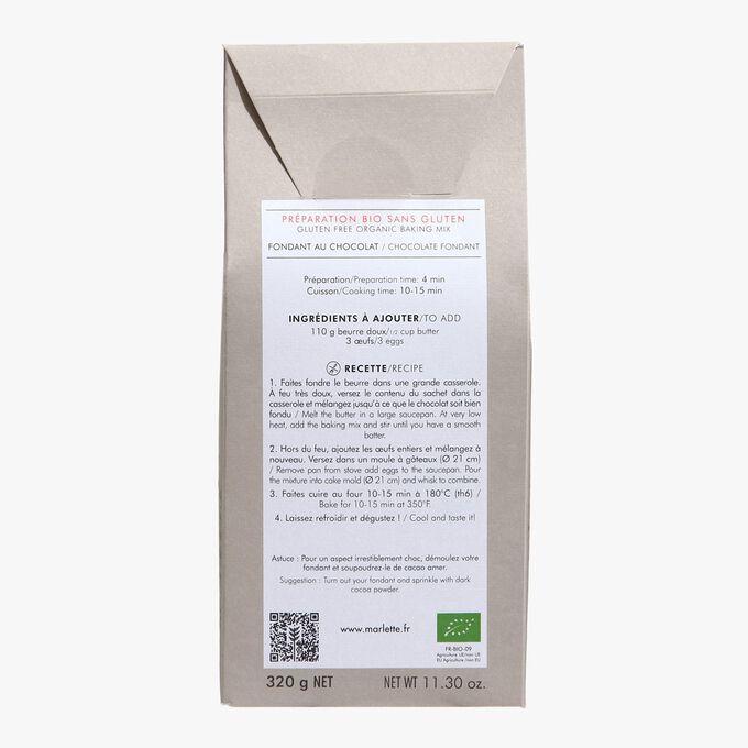 Organic mix for gluten-free chocolate fondant Marlette