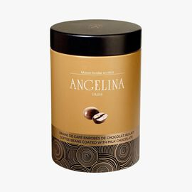 Coffee beans coated with milk chocolate Angelina