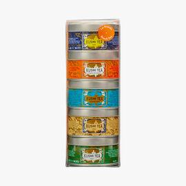 Brunch Teas, assortment of 5 metal boxes Kusmi Tea